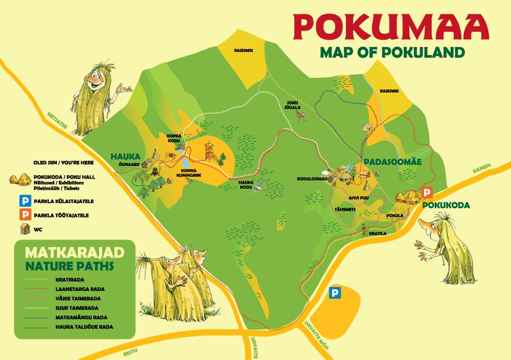 Pokumaa kaart